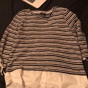 Stripe black and white dress shirt
